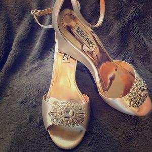 Badgley Mischka Abagail Bridal Wedge Sandal